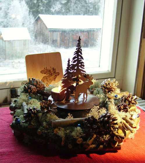 Новогодние композиции своими руками из природных материалов