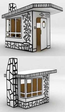 домик из картона своими руками