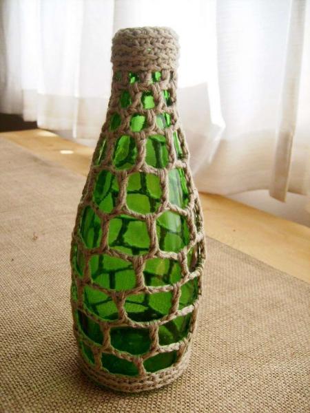 Вазы из бутылок своими руками фото
