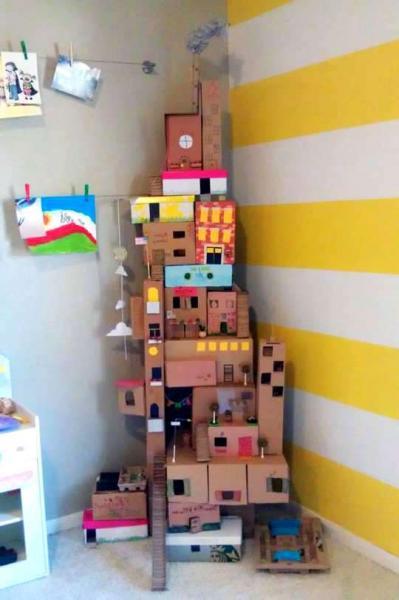Сделать домик из коробки или картона своими руками фото 751