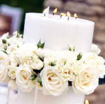 Делаем свадебные свечи своими руками