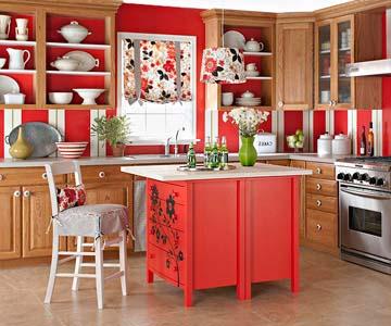 Яркое и стильное оформление кухни своими руками
