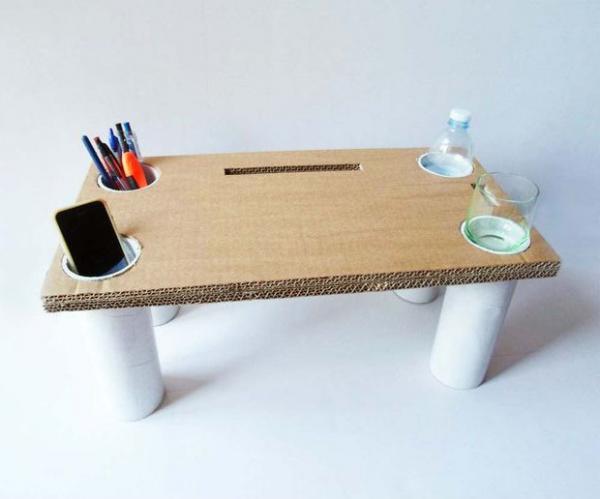 Журнальный стол из картона своими руками