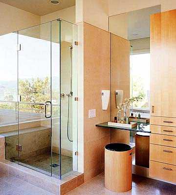 интерьер ванной комнаты маленького размера