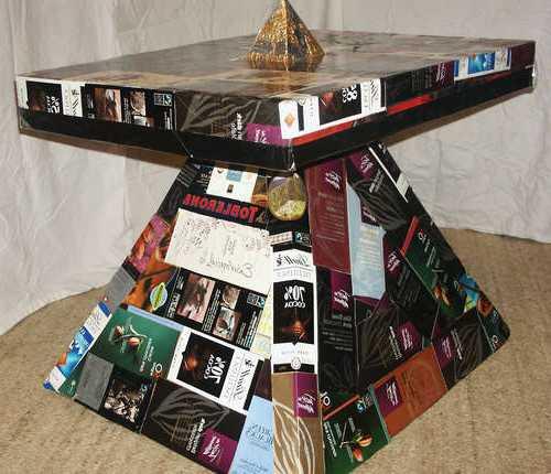 Мебель из картона мастер класс — делаем кофейный столик