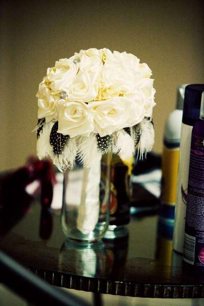 Красивый свадебный букет своими руками из лент