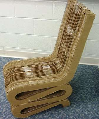 Самое лучшее в мире картонное кресло своими руками