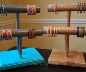 Деревянная подставка для браслетов своими руками