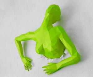 Настенная скульптура из бумаги своими руками