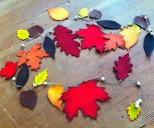 Осенняя гирлянда из фетра своими руками