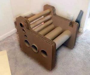 Кресло из картона мастер-класс