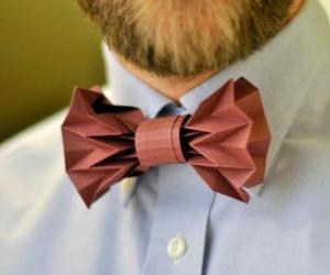 Оригами галстук-бабочка из бумаги