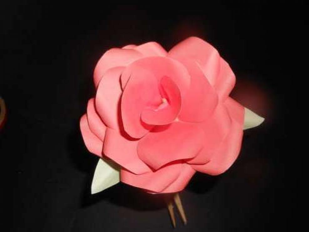 Пышная роза своими руками 69