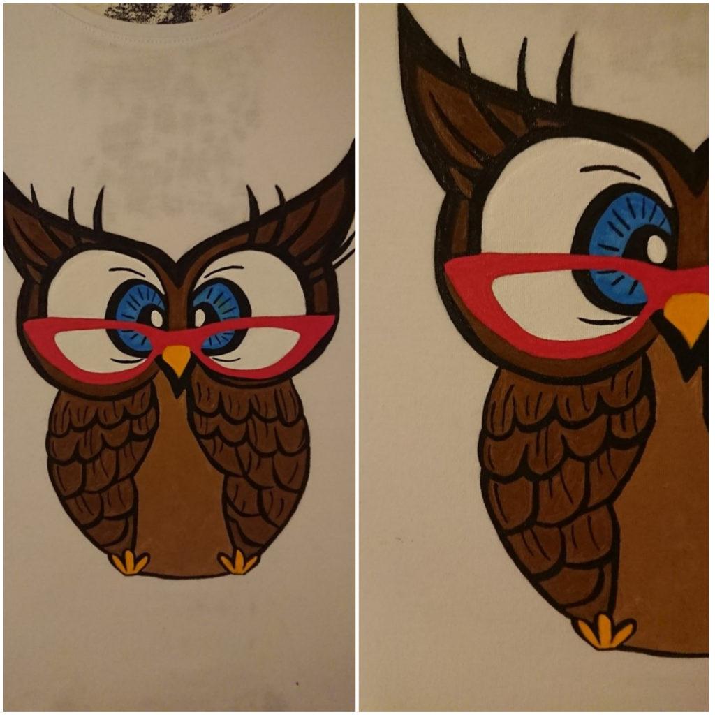 роспись на футболке готова