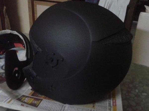 Чем покрасить шлем